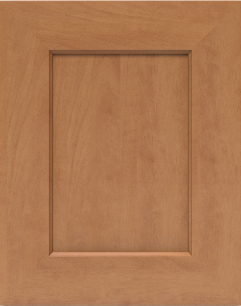 Sycamore finish on a Miter Shaker-Style cabinet door.
